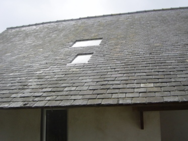 House north roof, reclaimed Welsh slate